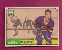 1968-69 OPC # 41 KINGS DALE ROLFE  ROOKIE VG CARD  (INV#5826)