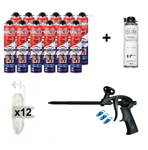 POLYNOR PRO 12x750ml (set 29 pcs) closed cell can PUR spray insulation foam kit
