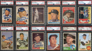 1952-1968 Mickey Mantle Topps & Bowman PSA DNA 10 Signed Auto Collection