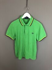 FRED PERRY Polo Shirt - Size Small - Green - Great Condition - Men's