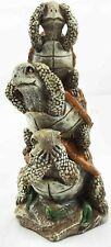 Sea Turtle on Each Other See Hear Speak No Evil Figurine Resin Statue Collection