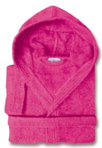 Kids Children's 100% Turkish Cotton Hooded Bath Robe Terry Towel Bathrobe PINK