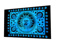 "Sun-Moon Poster 30x40"" Inch Indian Ethnic Cotton Hanging Hippie Wall Art Decor"