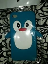 For Apple iPhone 5C 4G 4S Cute Cartoon Penguin Silicone Skin Phone Cover Case