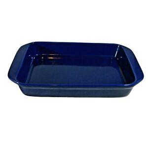 RIESS Chantal 9X13 Cobalt Blue Enameled Steel Casserole Baking Dish Pan