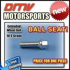 Silver Ball Longer Extended Wheel Bolts Lugs | Benz | 12x1.5 | 60MM Thread