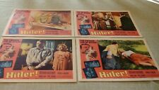 """Set of vintage 4 lobby cards from movie """"Hitler""""! 1963!"""