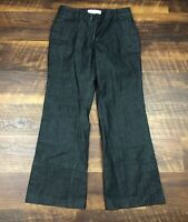 Ann Taylor LOFT Julie Petites Black Denim Look Bootcut sz 2P Women's Dress Pants