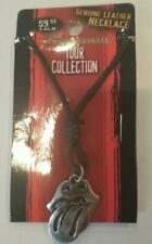ROLLING STONES TOUNGE 06 TOUR COLLECTION LEATHER NECKLACE PENDANT CHARM JEWELRY