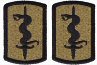 2 Pack U.S. Army 30th Medical Brigade OCP Hook Military Patches