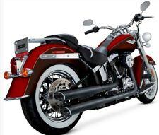 Harley Softail Deluxe Vance & Hines TÜV Twin Slash EC Auspuff Schalldämpfer Neu