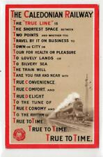 More details for caledonian railway: poster-type advertising postcard - glasgow 1911 (c31529)