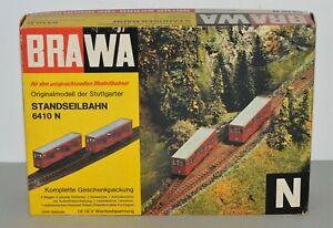 N Scale BRAWA 6410 N Funicular Cable Car Complete Set NIB SUPER RARE