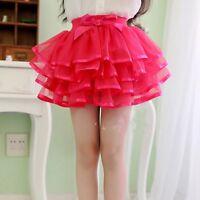 Kid Girl Tulle Princess Ballet Dance Dress Ruffle Multilayer Lace Tutu Skirt New