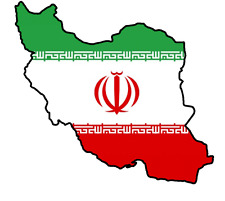 ADESIVI AUTO Iran 11x9 cm konturg. decal vinile sticker die-cut