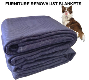 6xFURNITURE REMOVALIST BLANKETS QUILTED PACKING MOVING STORING 3.4mt X 1.8mt