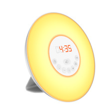 Radiowecker mit LED Wake up Light Wecker Sonnenaufgang Simulation Denver CRL-330