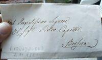 1841 PREFILATELICA DA ACQUAFREDDA NEL BRESCIANO A BRESCIA CON TESTO
