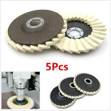 "5Pcs 5"" Wool Felt Flap Polishing Disc for Angle Grinder to Polish Metal Glass"