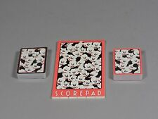 Walt Disney Mickey Mouse Bridge Playing Cards with Score Sheets