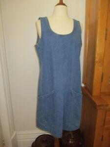 life & style australia denim shift tunic dress nwt  14