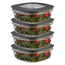 8pc Rubbermaid 9-Cup Plastic Food Storage Container Set BPA-Free Airtight Lids