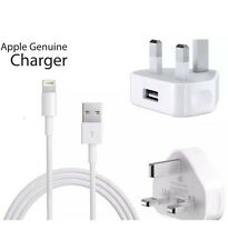 Genuine Apple iPhone 7, 6, 5 Mains Wall Charger Plug And Lightning Cable