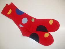 🇬🇧 Mens Warm MERINO WOOL Spot Dot Socks 6-11 Red/Yellow/Green/Royal Blue/Navy