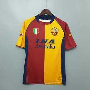 Maglietta Roma Champions 2001 2002 maglia da calcio scudetto patch retro vintage