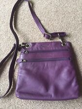 Ladies Osprey Leather Handbag - purple -  new without tags