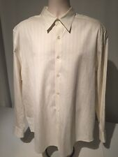 PRONTO UOMO Men's Casual Dress 60% Silk - 40% Cotton Shirt SZ XL