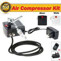 Airbrush Compressor Kit 0.3mm Air Brush Spray Gun Make Up Cake Nail Painting