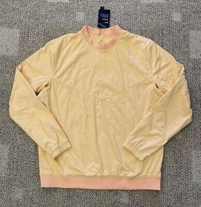 Nike Shield Men's M Medium Golf Water Resistant Top Yellow Lucky Print CK3771