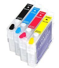 4 Refillable Ink Cartridges Epson SX525WD SX535FW SX620FW BX525WD 1291-4 Non OEM