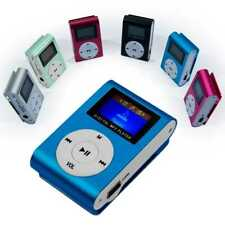 Mini MP3 Player Clip Reproductor LCD Metalico hasta 32Gb Micro SD Radio FM Azul