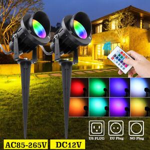 50W RGB LED Flood Landscape Light Outdoor Garden Wall Yard Path Lawn Lamp 3 J