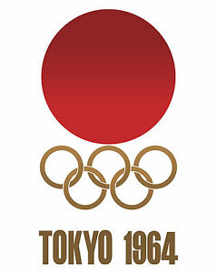 """1964 Tokyo Summer Olympic Poster - 8""""x10"""" Photo"""