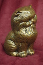 Persian Longhair Dlh Cat Feline Statue Bronze Sculpture 24054