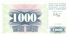 Bosnia and Herzegovina 1.000 Dinara 1992 Checkout fresh P.15a