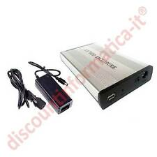 Box esterno per Hard Disk da 3.5 2 in1 SATA S-ATA IDE PATAin alluminio HD HDD