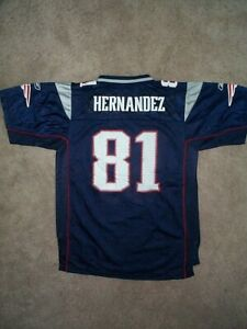 Reebok New England Patriots Aaron Hernandez nfl Jersey Youth Kids Boys XL/18-20