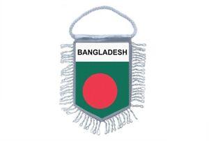 Mini banner flag pennant window mirror cars country banner bangladesh