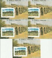 5 Blocks Eisenbahn S.Tome E.Principe gestempelt 55
