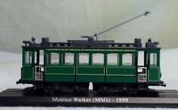 1/87 Urban Rail Trolley Motrice Walker(MSG)1899 Static Display 3D Plastic Model