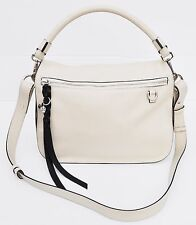 Alexander McQueen 'Skull Charm' Leather Hobo/Shoulder Bag, White, MSRP $1,595