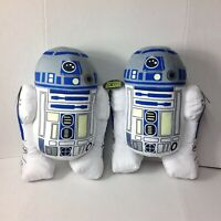 Star Wars Disney R2 D2 Polyester Glow In The Dark Pillow New Lot Of 2