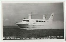 More details for postcard british srn 2. hovercraft nighs real photo isle of wight vintage 1960s