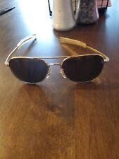 Aviator Vintage Command Usa 23k Pilot Sunglasses Gold Tone Used