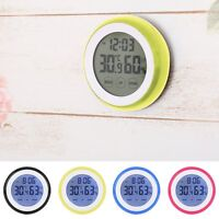 LCD Digital Hygrometer Thermometer Touch Screen Humidity Temperature Clock LP