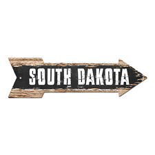 AP-0115 SOUTH DAKOTA Arrow Street Tin Chic Sign Name Sign Home man cave Decor